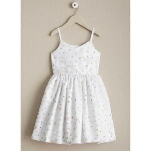 Chasing Fireflies Scattered Flowers Dress White